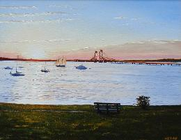 Battery Park Newport RI Oil Painting