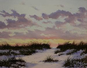 Sachuset Beach Newport RI Oil Painting