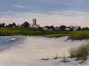 St George's Newport RI Oil Painting