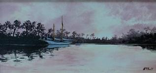 harbor oil paintin